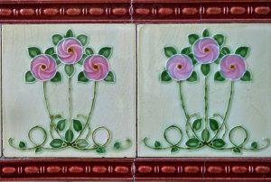 płytki ścienne w róże
